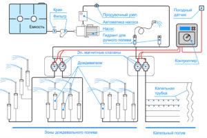 Устройство системы автоматического полива
