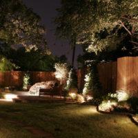 Ландшафтное декоративное освещение