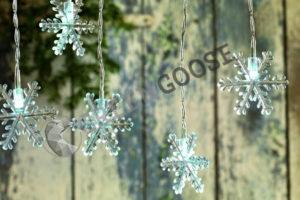 Гирлянды Снежинки со светодиодной подсветкой могут заменить недавно пропавший снег на праздниках