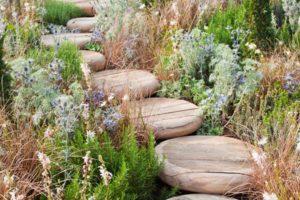 Деревянные дорожки придают саду деревенский шарм