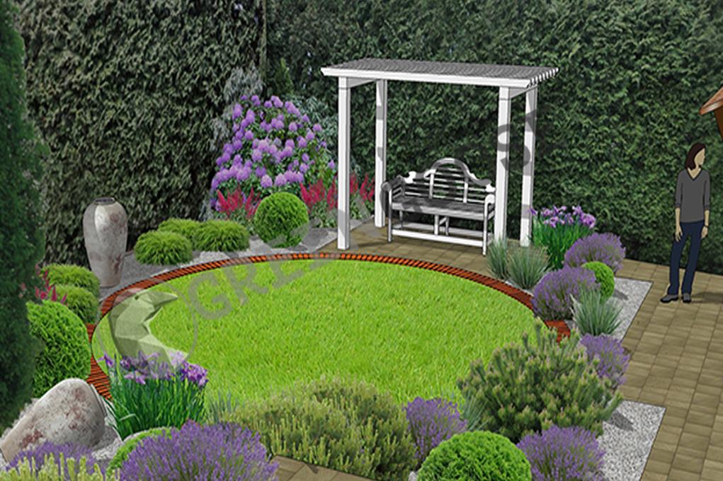 Эскизный проект дизайна сада на участке
