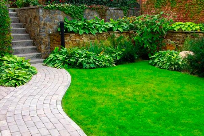Садовые дорожки соединяют удаленные участки участка, облегчают ориентирование в саду и украшают обустройство антуража вокруг дома.